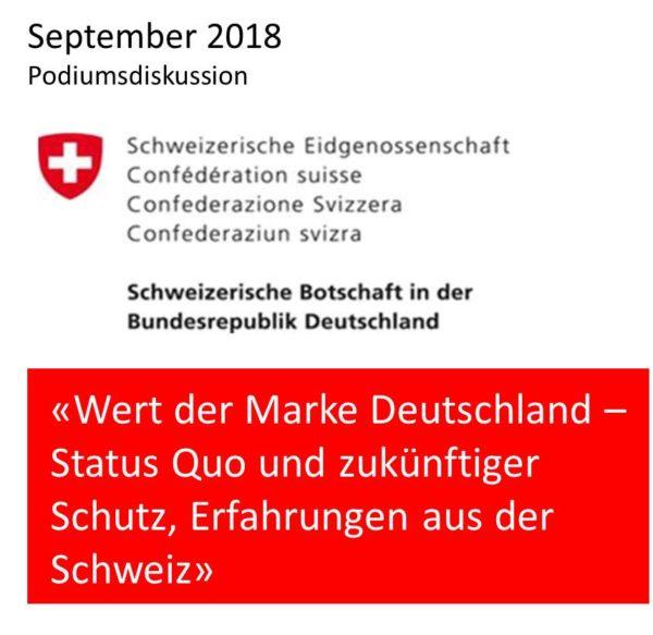 Podiumsdiskussion «Wert der Marke Deutschland»